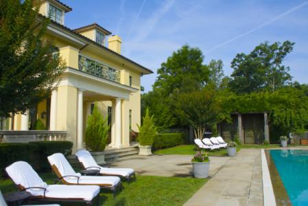 Keswick Hall- pool and Villa Crawford at dawn- JAR