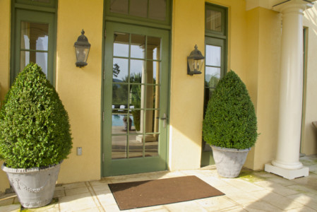Keswick Hall- pool and Villa Crawford entrance- JAR
