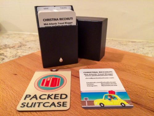 Packed Suitcase Business Cards