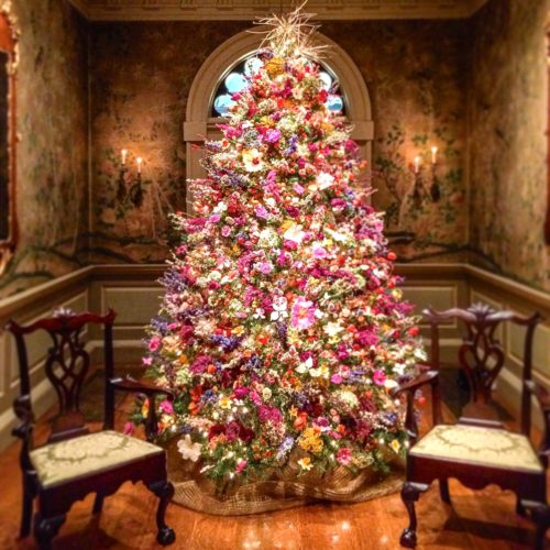 Holidays in the Brandywine Valley- Winterthur dried flower tree