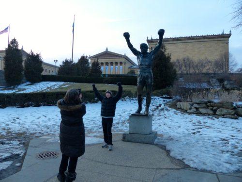 2 Days in Philadelphia - Philadelphia Museum of Art- Steps- rocky statue