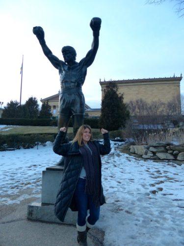 2 Days in Philadelphia - Philadelphia Museum of Art- me and the rocky statue