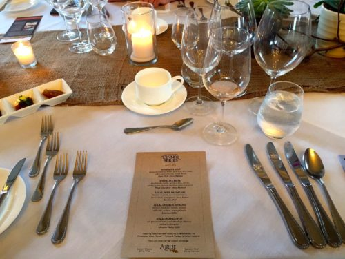 Airlie- dinner series- place setting