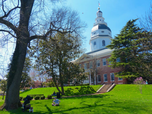The Maryland State House dates back to 1772 and once served as the Nation's capitol