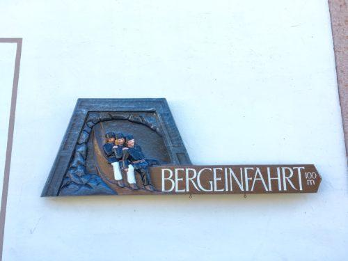 Berchtesgaden- Salzbergwerk sign