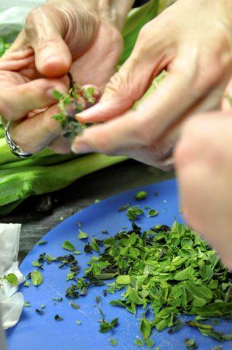 gettysburg-getaway-savor-gettysburg-cooking-class-cutting-up-herbs