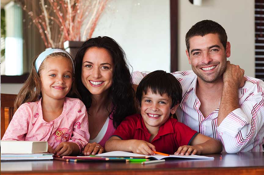 Affordable Housing makes Happy Families