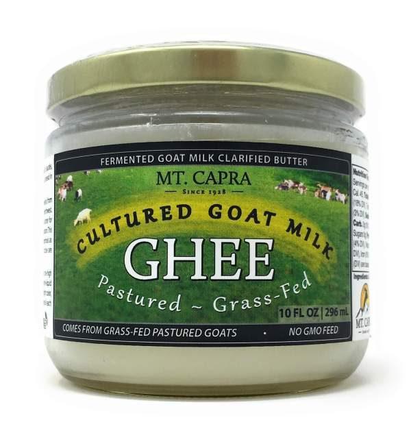 Mt. Capra Grass-Fed Cultured Goat Milk Ghee