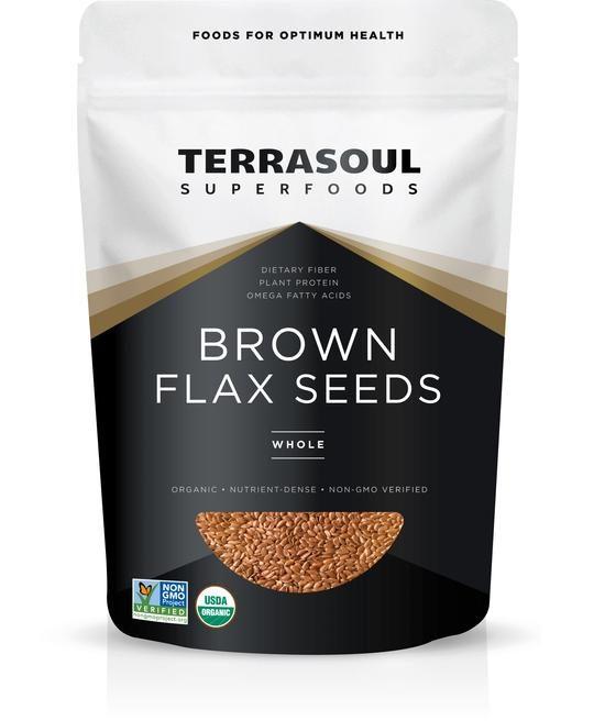 TerraSoul Organic Brown Flax Seeds