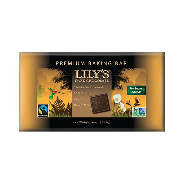 Lily's Sweets 55% Dark Chocolate Baking Bar