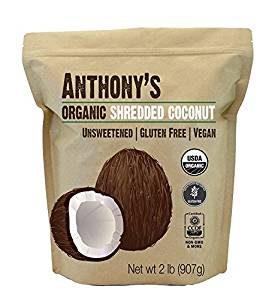 Anthony's Shredded Organic Unsweetened Coconut