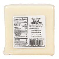 Sierra Nevada, Caprae Collection, Raw, Aged Goat Cheese - Cheddar