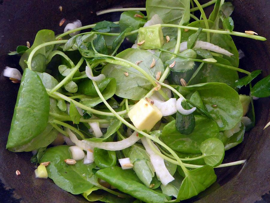 Medicinal Chicken Soup + Watercress Fennel Salad
