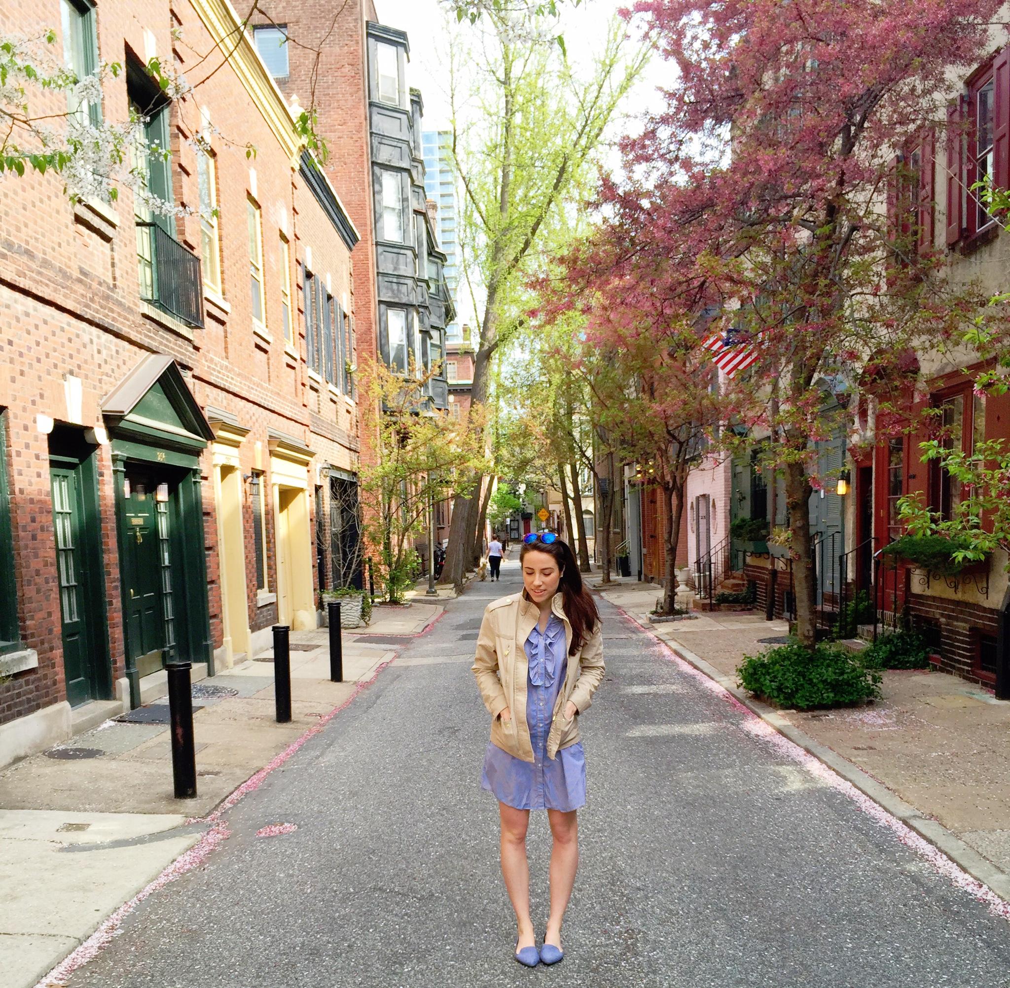 spring outfit | shirt dress & a neutral jacket