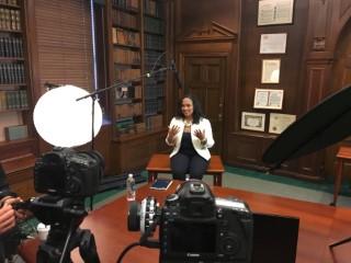 Natasha Bowman recording online classes