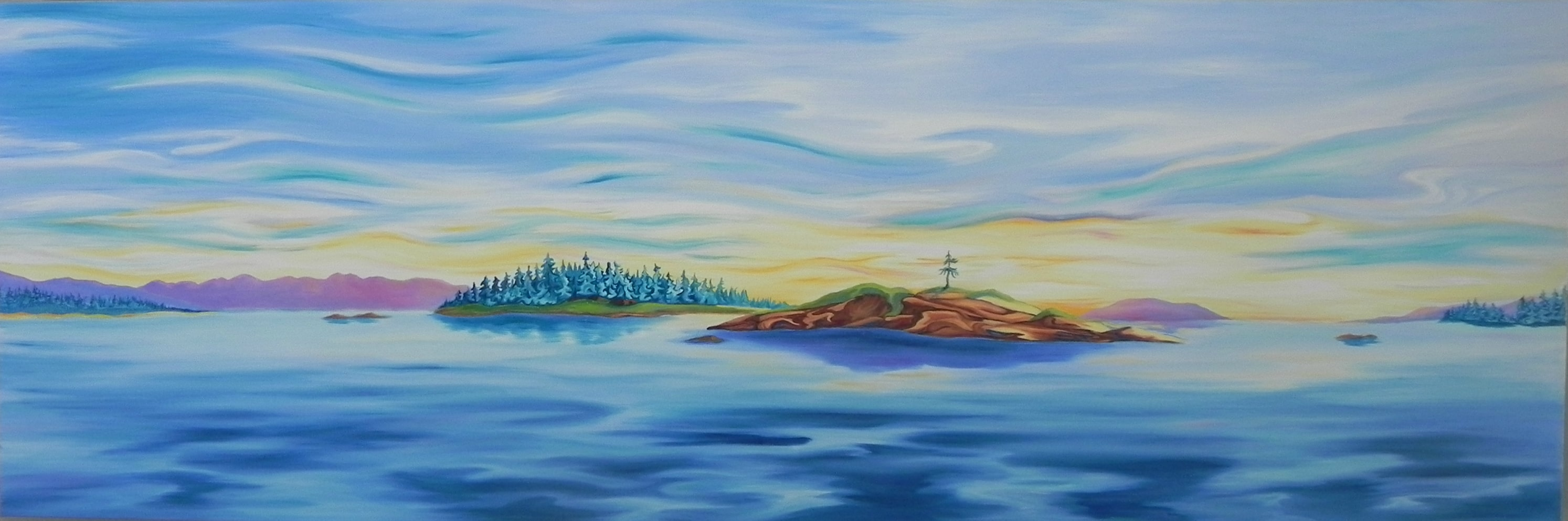 Nanoose Bay painting canvas print available at https://thecreationguild.com/decorator-prints/