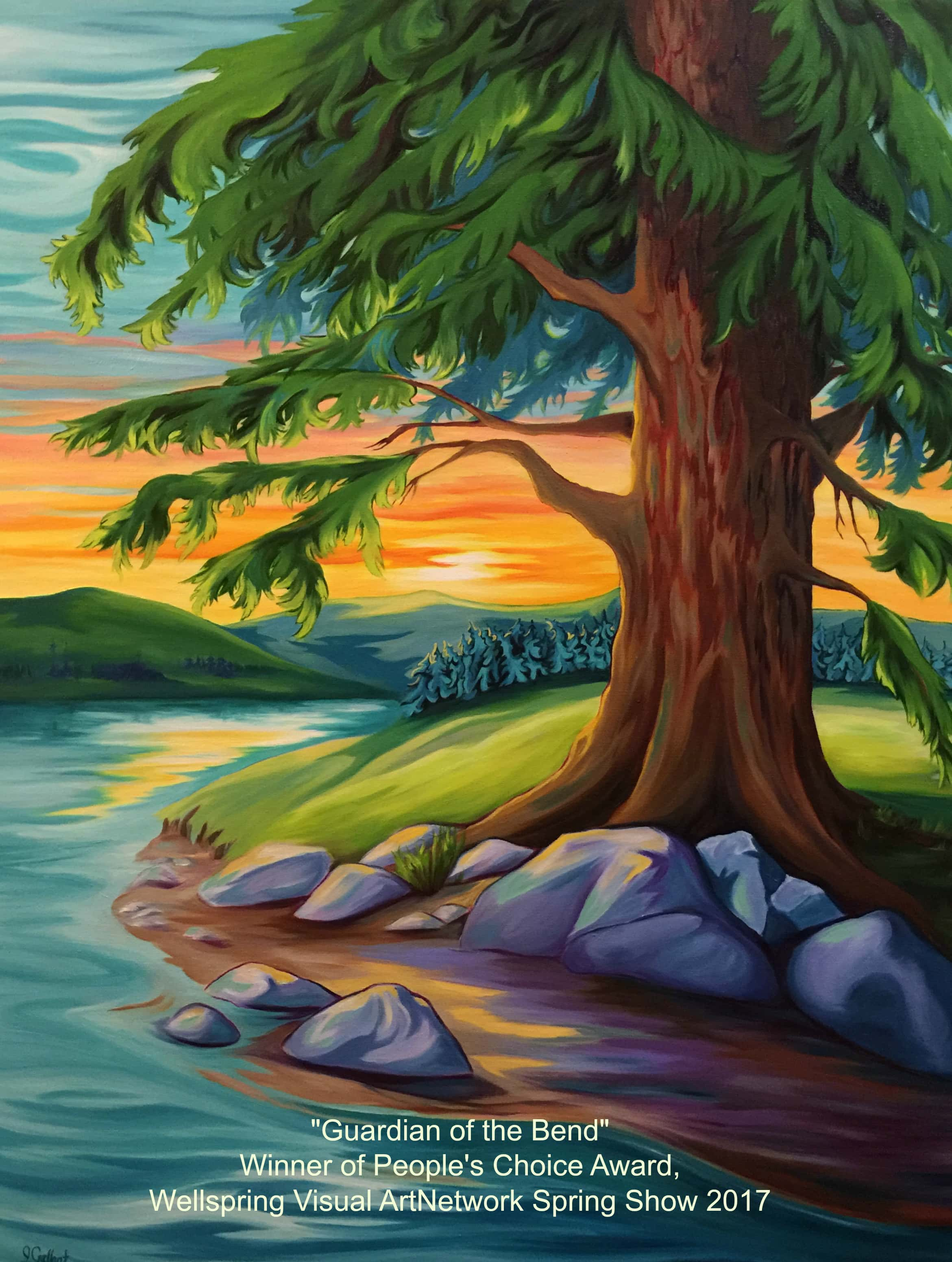Guardian of the Bend painting by Janice Gallant