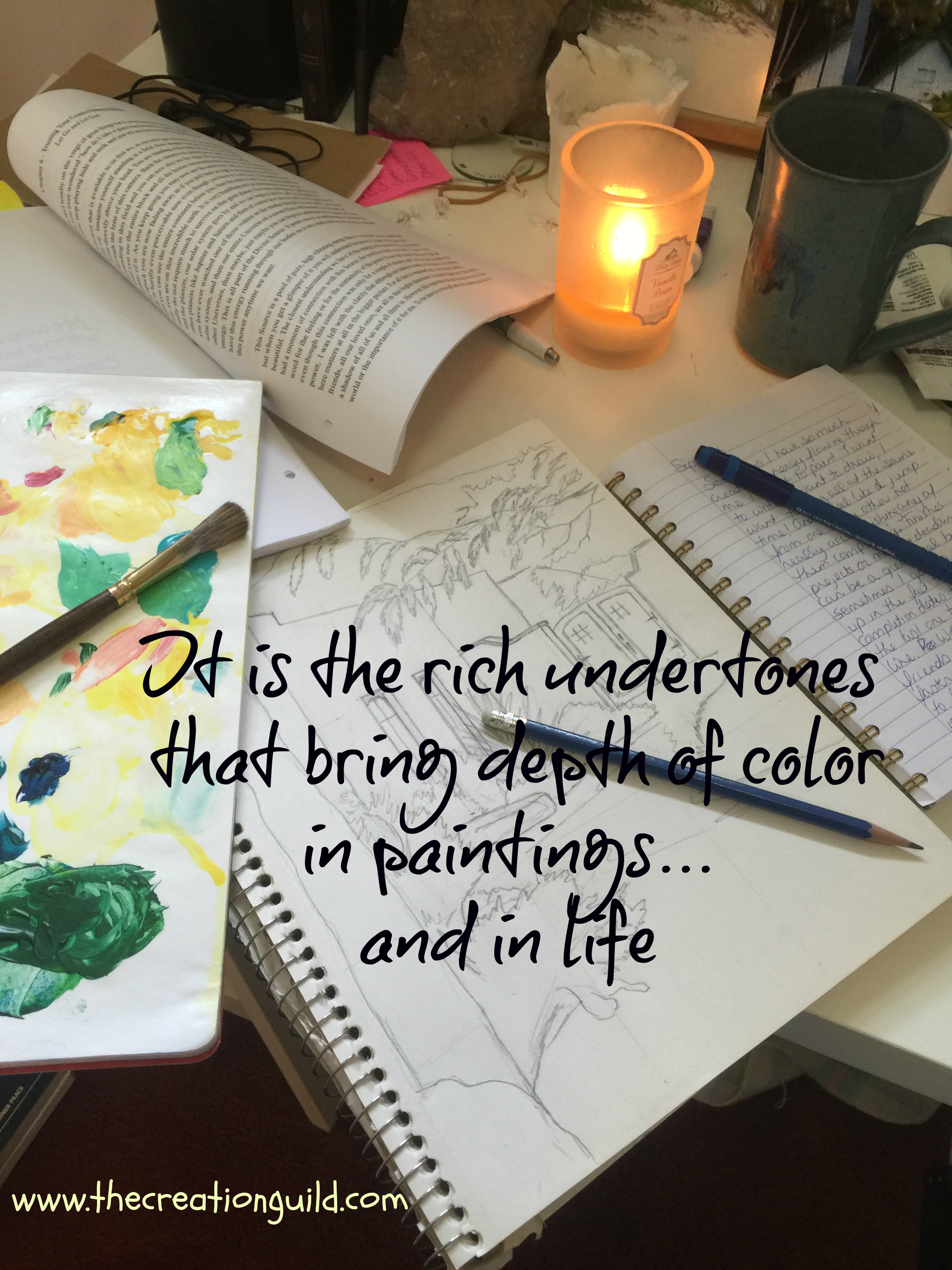 Rich undertones colors & life blog by Janice Gallant https://thecreationguild.com/