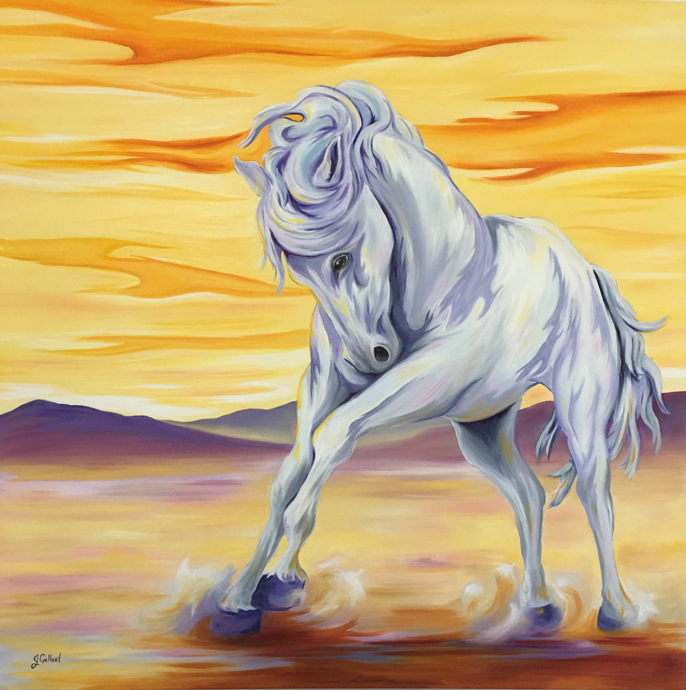 Canvas print of freedom horse by Janice Gallant https://thecreationguild.com/decorator-prints/