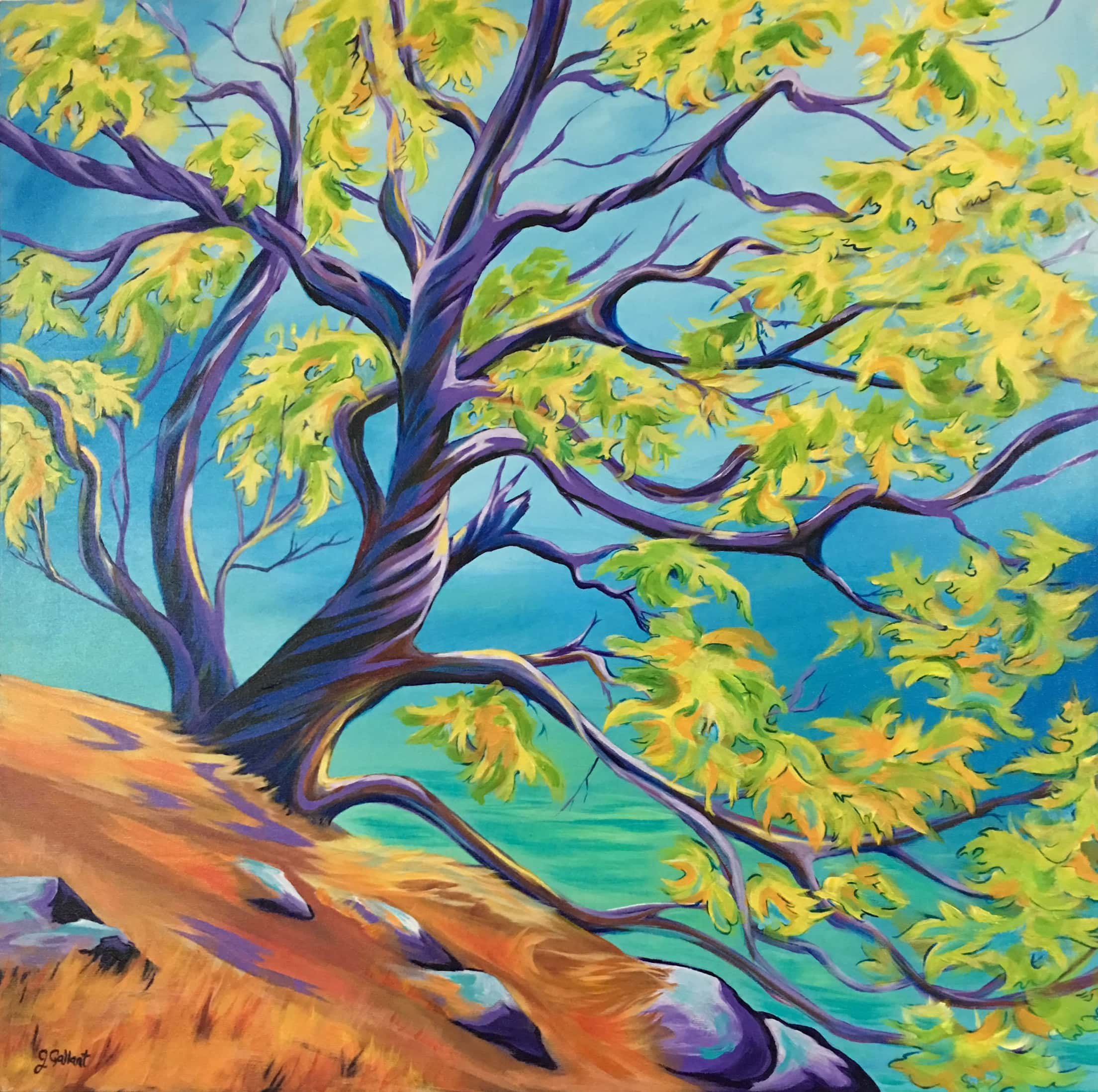 Dancing Tree Acrylic Painting by Janice Gallant https://thecreationguild.com/