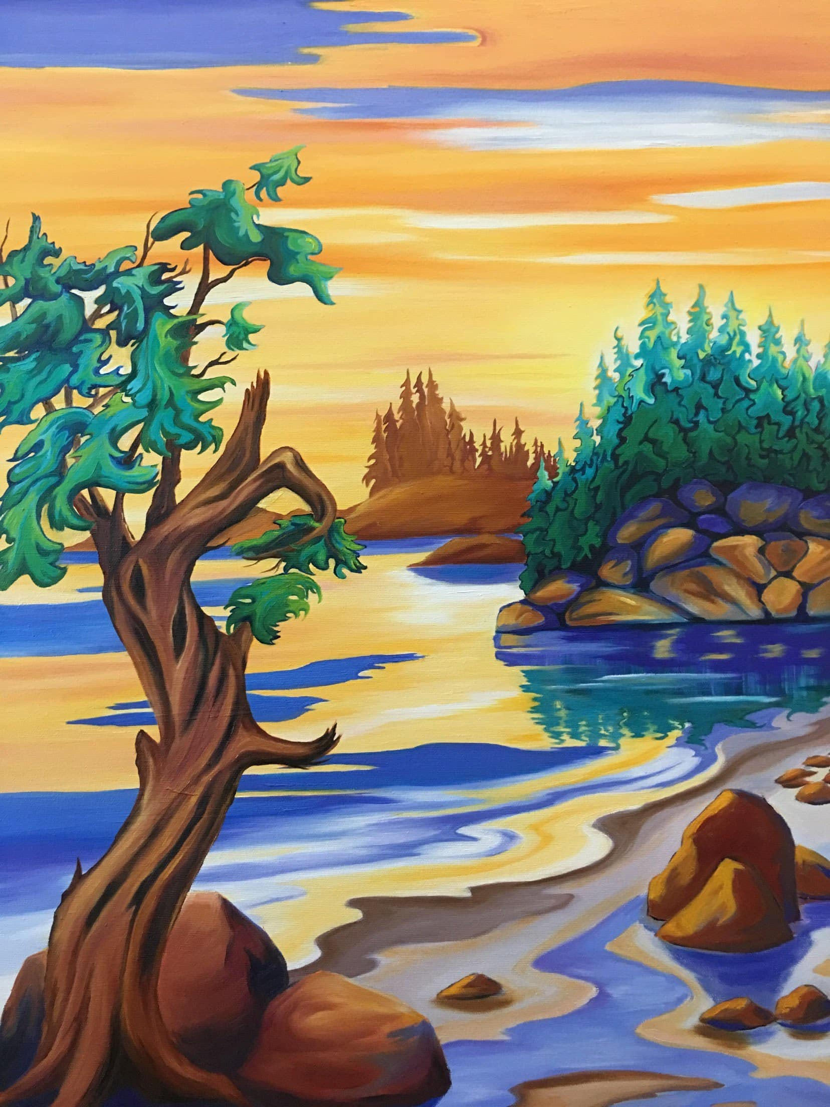 West Coast Painting by Janice Gallant https://thecreationguild.com/