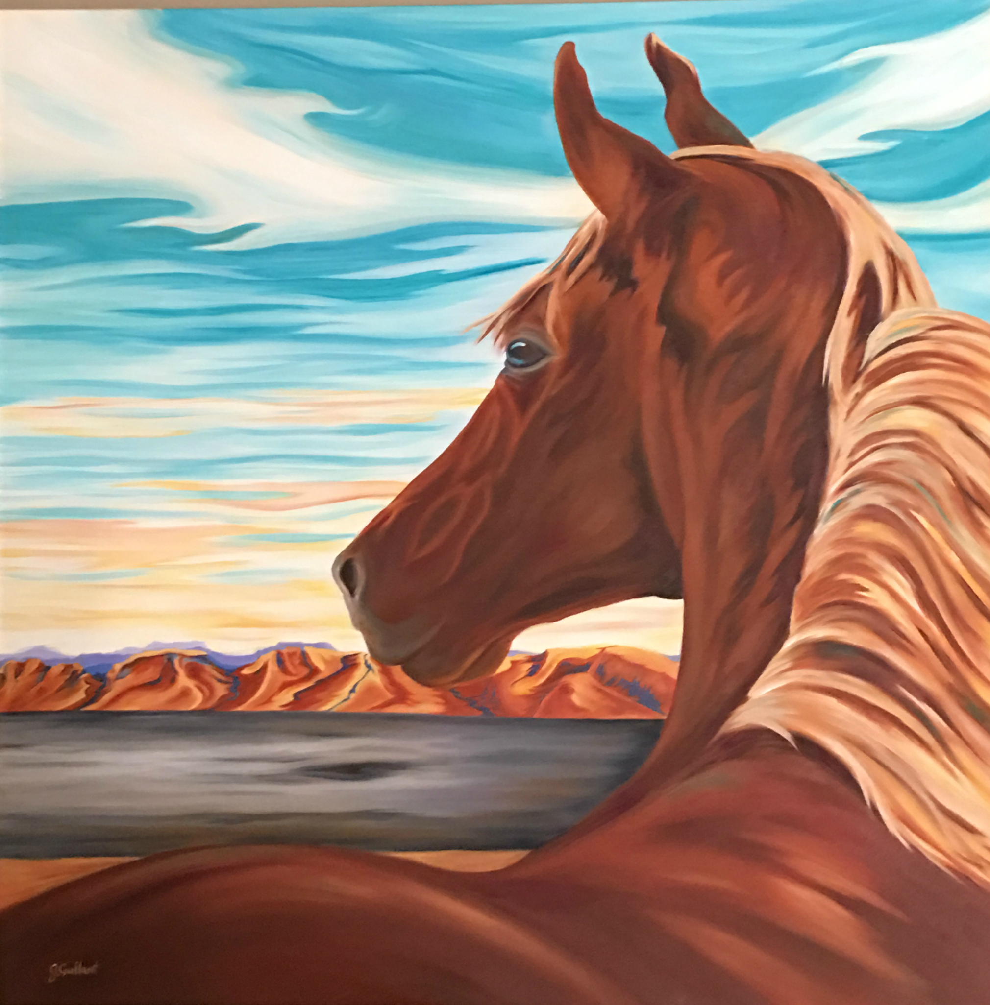 Canvas prints of horse, Unclaimed Freedom by Janice Gallant https://thecreationguild.com/decorator-prints/