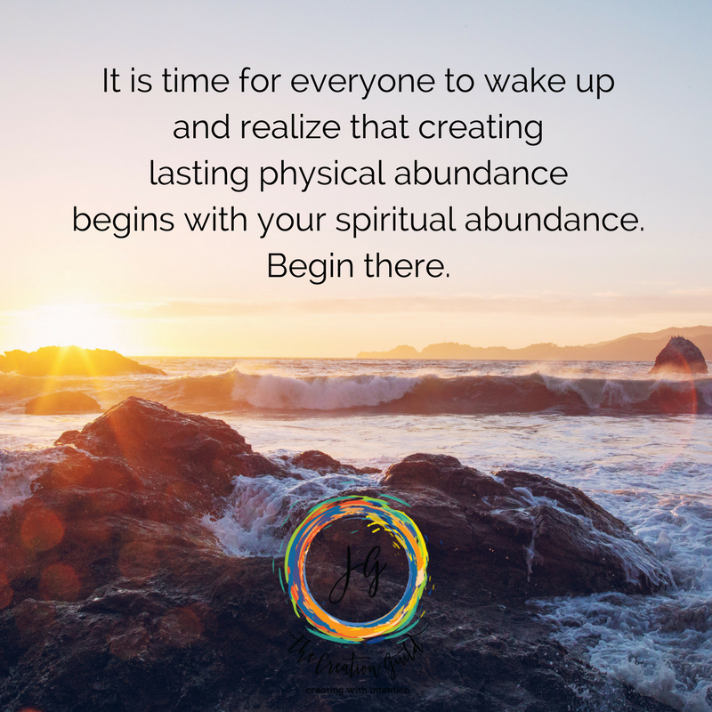 Physical abundance & spiritual abundance are linked. Blog by Janice Gallant