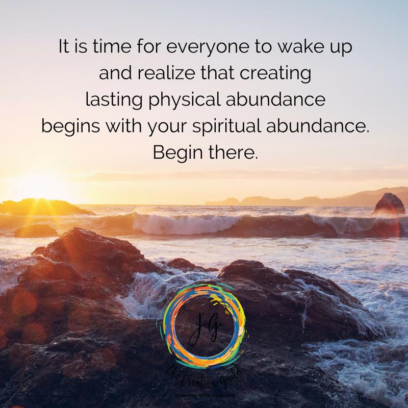 Physical abundance & spiritual abundance are linked. Blog by Janice Gallant