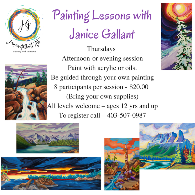 Painting lessons with Janice Gallant