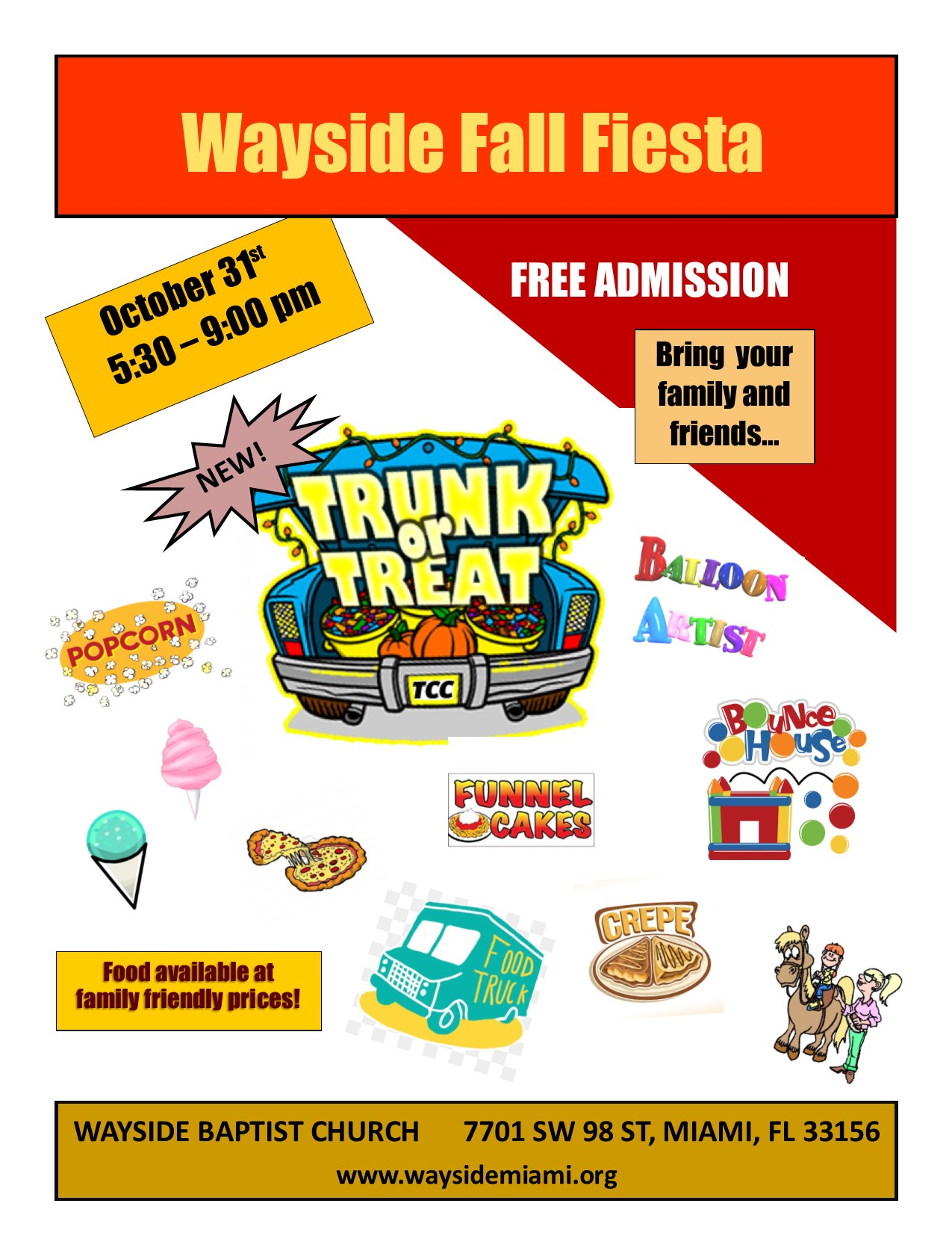2018 fall fiesta flyer Wayside Baptist Church