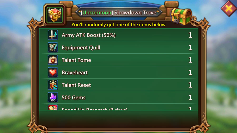 Uncommon Showdown Trove