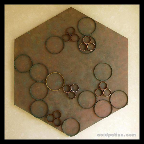 Hexagonal wall sculpture