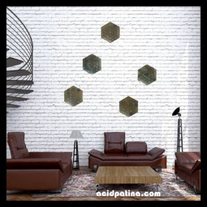Large wall sculpture installation