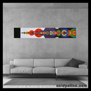 Large geometric painting