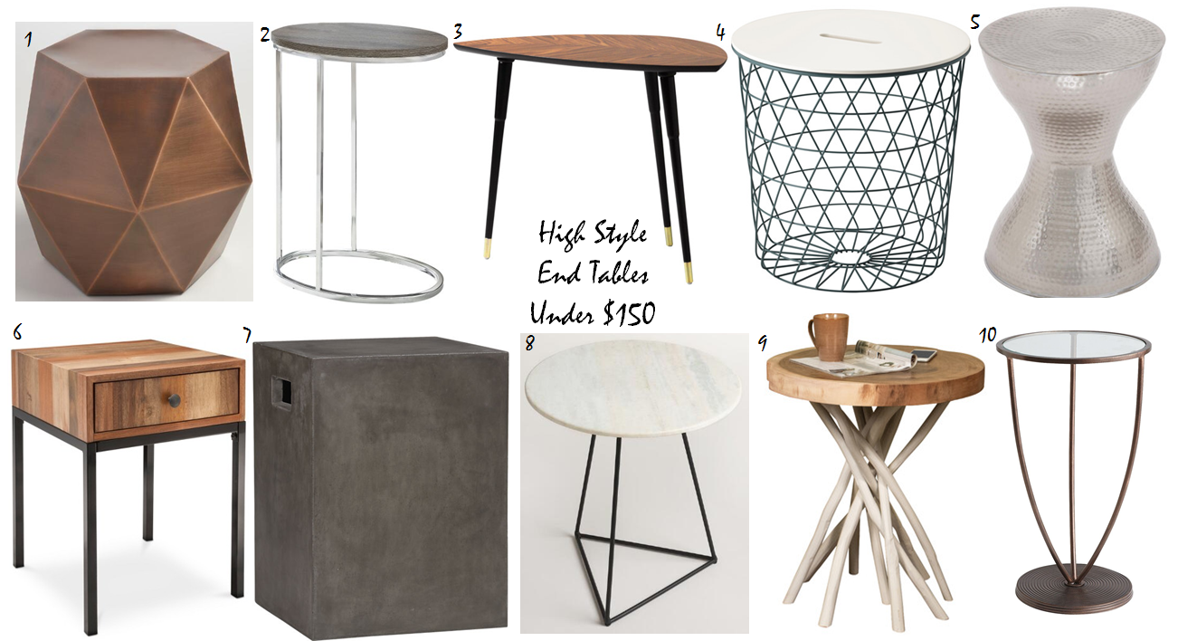 occasional tables, accent tables, tables under $150