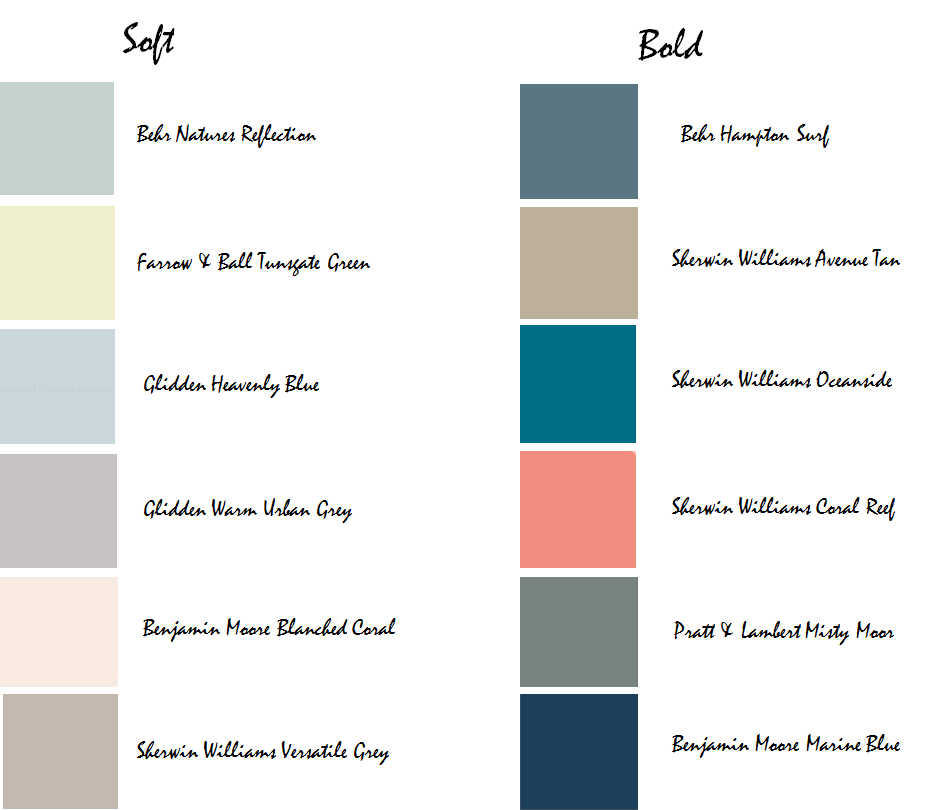 Perfect colors for a beach house