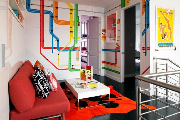 fun subway map wall