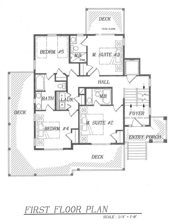 dream beach house floor plan