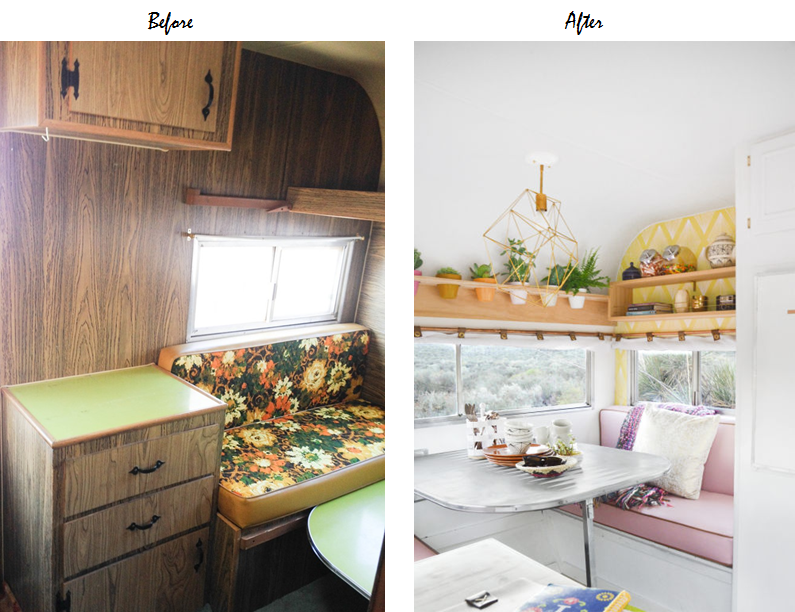 travel trailer interior reno