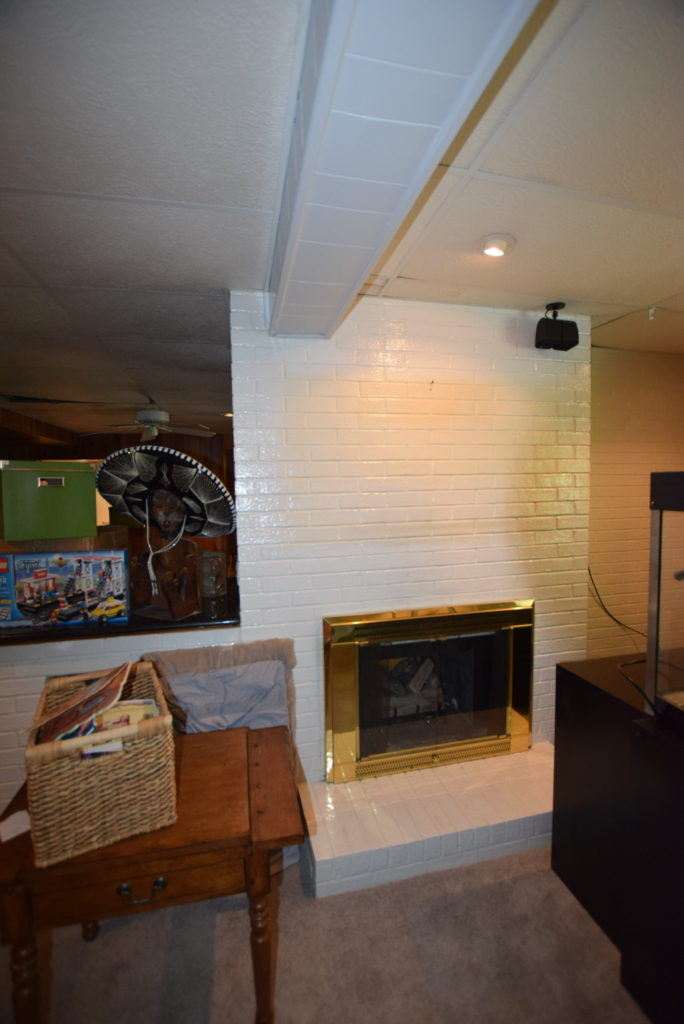 basement 2 sided fireplace