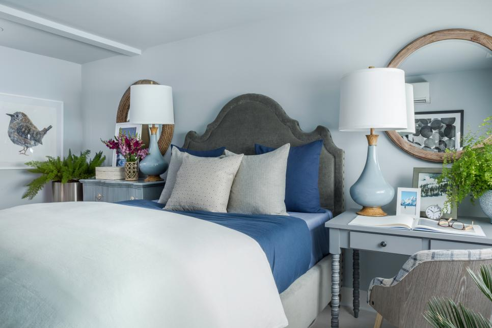 blue grey bedroom
