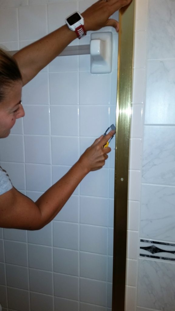 remove shower door frame