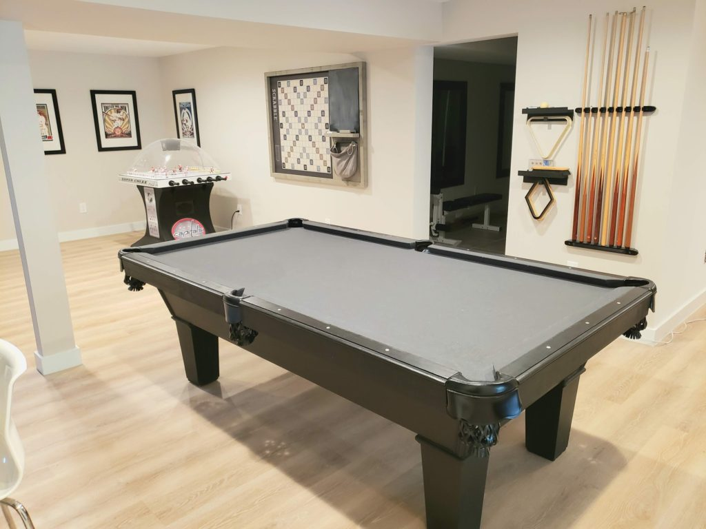 refinished pool table
