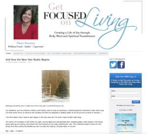 Content and Writing Samples Diane M Sweeney Get Focused on Living Website