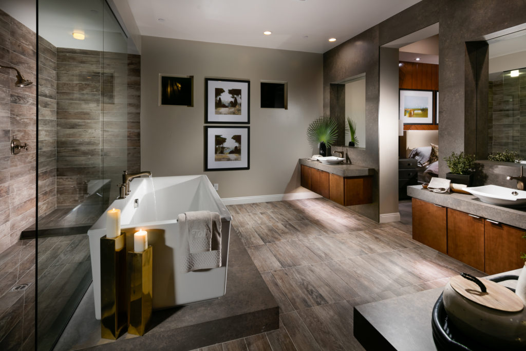 Toll Brothers Granite Heights Onyx Master Bath