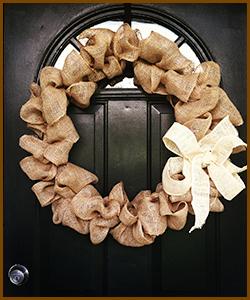 Fall Decorations - Burlap Wreath