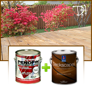Stained Deck & Fence