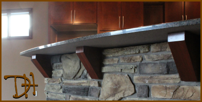 Granite Countertop Wooden Corbels