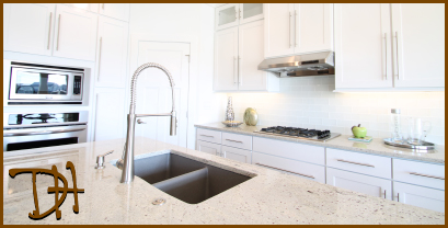 Granite Countertop in White Kitchen