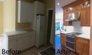 Medium Wood Tone Transitional Kitchen